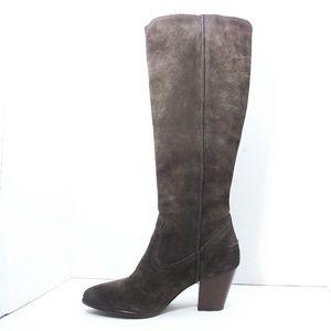 Frye Renee Brown Suede Pull-On Heel Boots Sz 7M